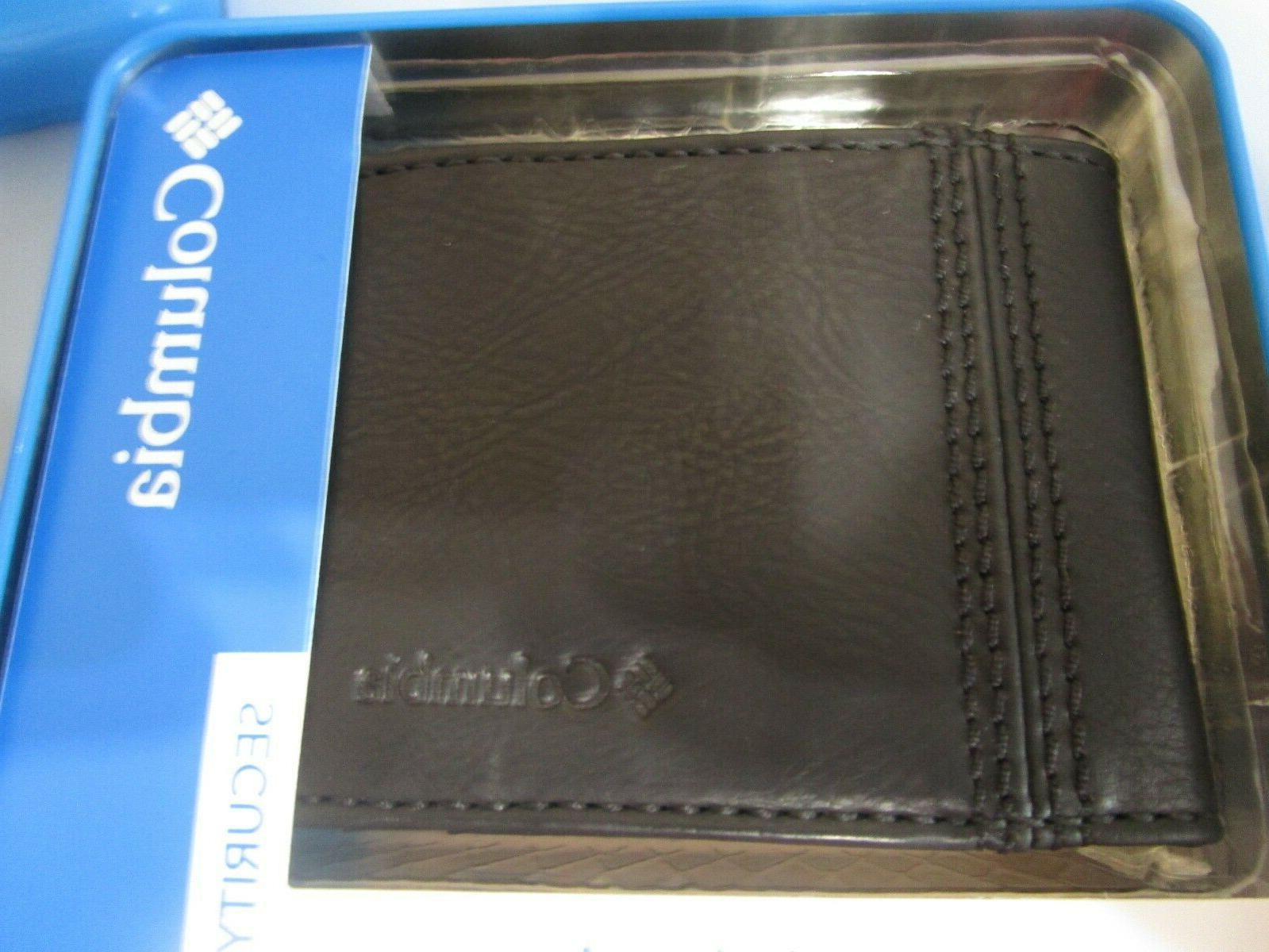Columbia Mens Bifold Leather RFID Wallet /