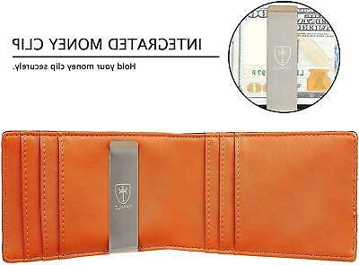 Mens Blocking with Money Clip and Credit Card
