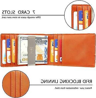 Mens Bifold Blocking with Money and