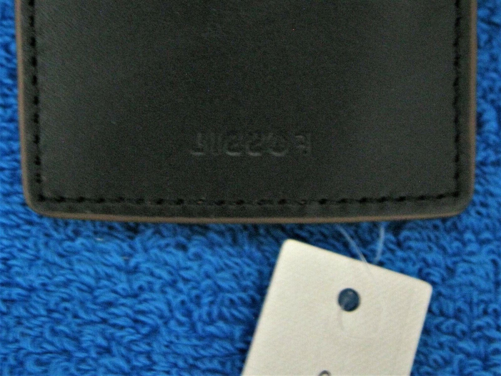 Leather RFID Flip ID Bifold Wallet Inside Money Clip New