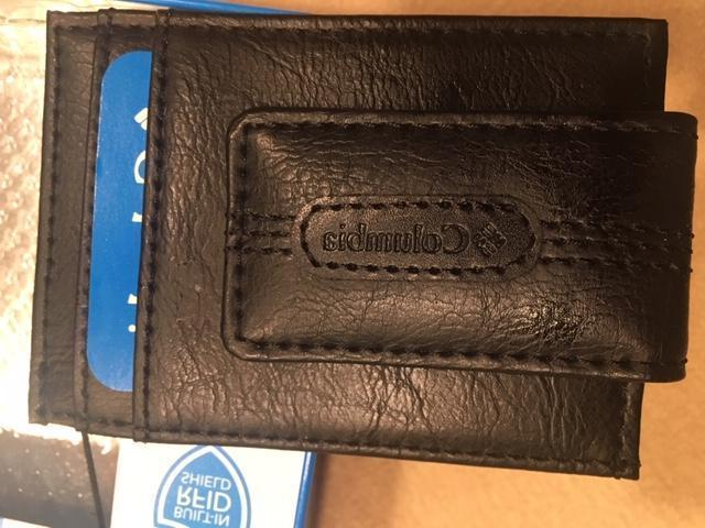 Columbia Mens Wallet - 4-Card Slots Center Pocket Money Clip