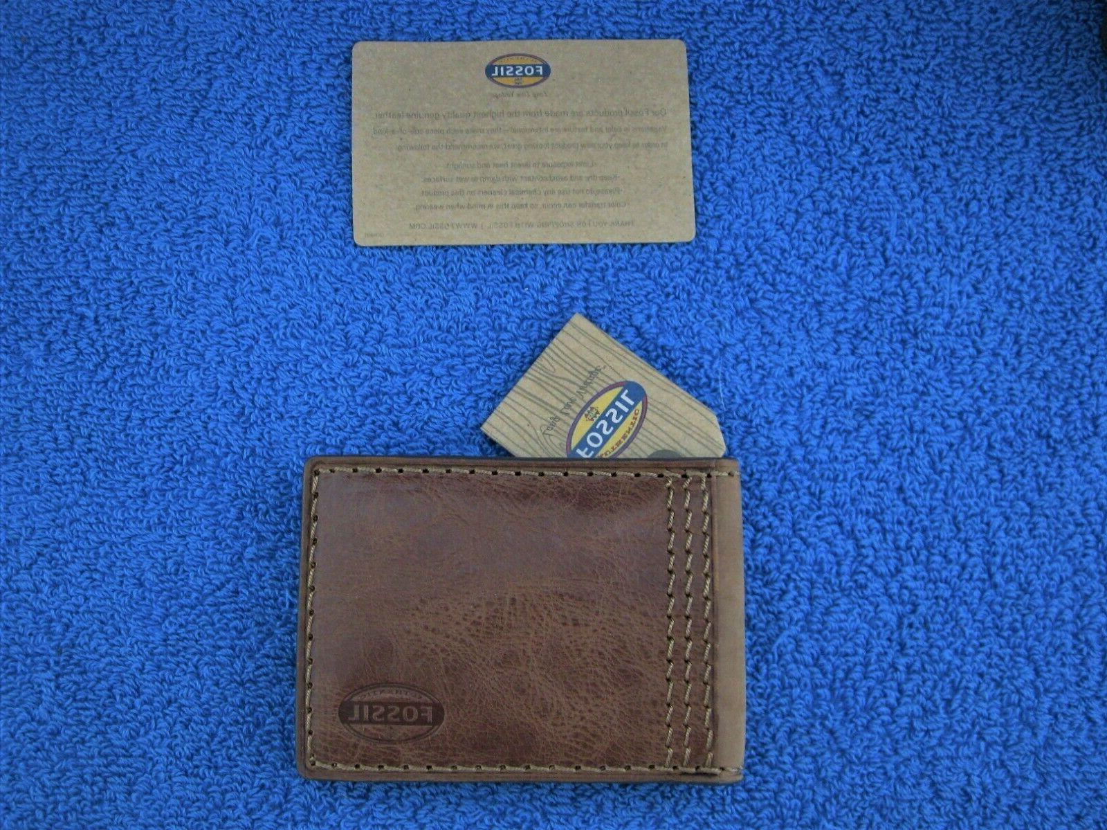 Fossil Flip ID Wallet w/Inside Money - New