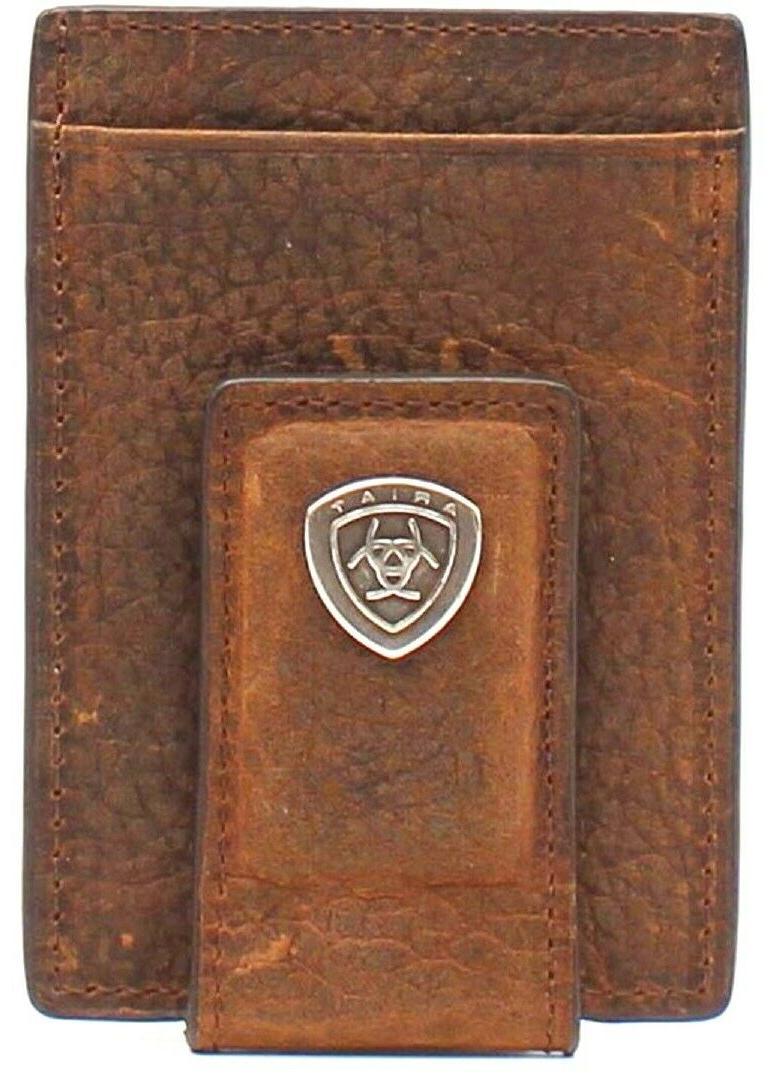Ariat Mens Card Case Money Brown Wallet Model A3512328