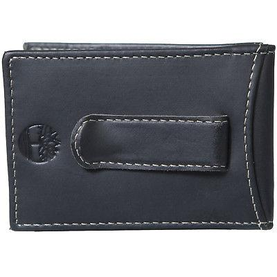 Timberland Mens Flip Money Clip Leather Bifold Pocket Wallet