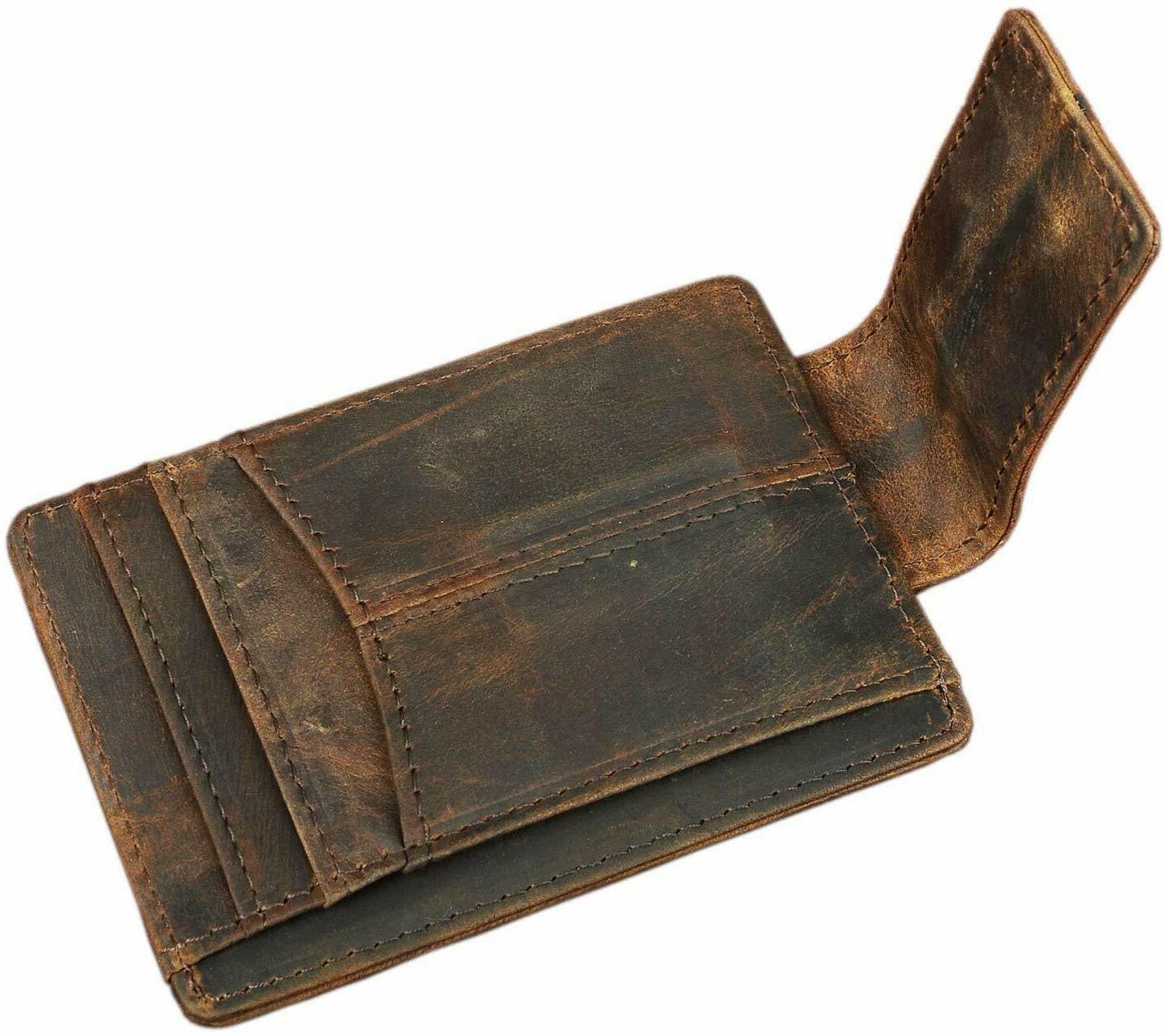 Mens Slim Wallet Card Case Money