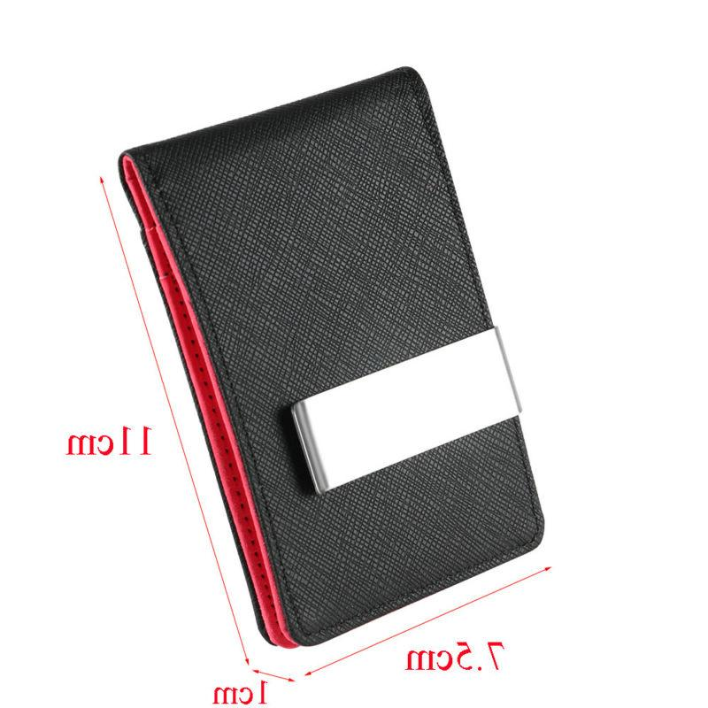 Mens Genuine Money Clip Wallets Purse
