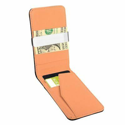 Mens Genuine Leather Money Black Holder