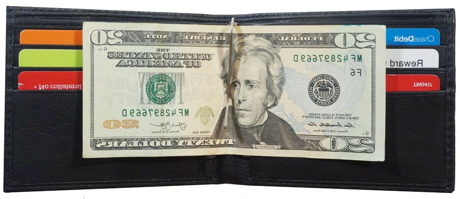 Mens Money Clip Front Pocket Credit Holder