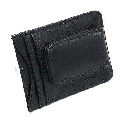 Slim Front Pocket Wallet Magnetic ID Holder
