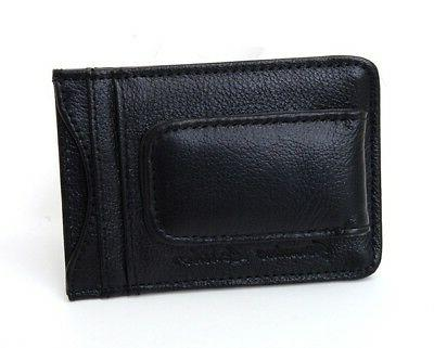 Mens Clip Slim Front Wallet Magnetic ID Credit Card Holder