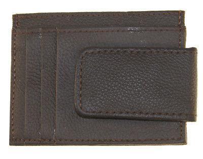 Mens Clip Slim ID Credit Brown