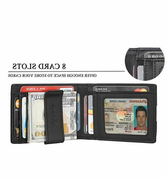 Mens Leather Slim Pocket Card RFID