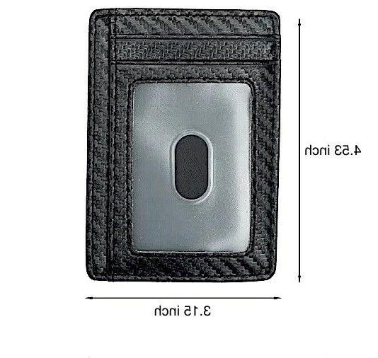 Mens Leather Wallet RFID Blocking Money ID Wallet