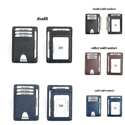 Mens RFID Blocking ID Holder Credit Card Wallet