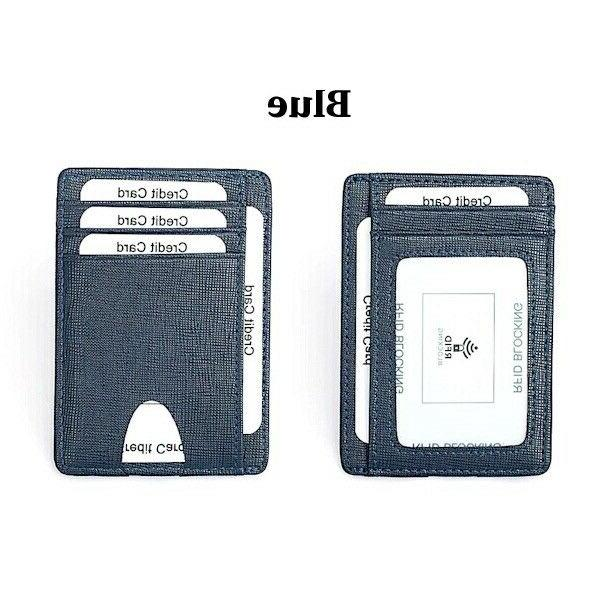Mens Leather RFID Blocking Money ID Holder Credit Wallet