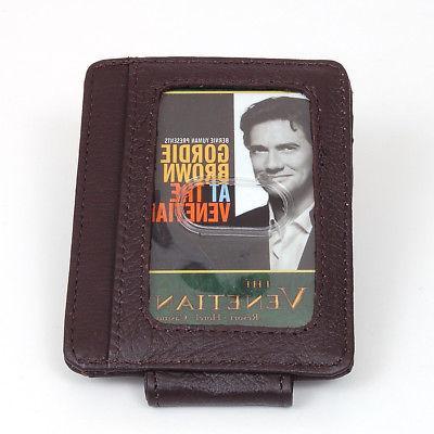Mens Leather Wallet Money Holder Pocket Slim NEW