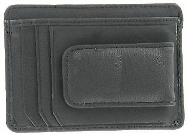 Mens Leather Wallet Money Clip Credit Card Holder Front Thin Slim NEW