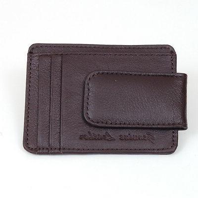 Mens Clip Card ID Holder Pocket Slim