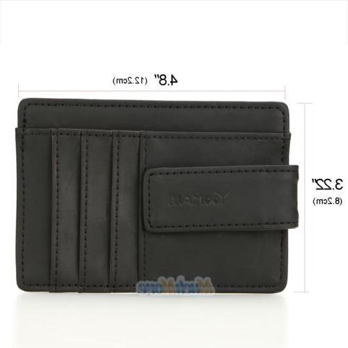 Mens Wallet Money Clip Card ID Holder Slim