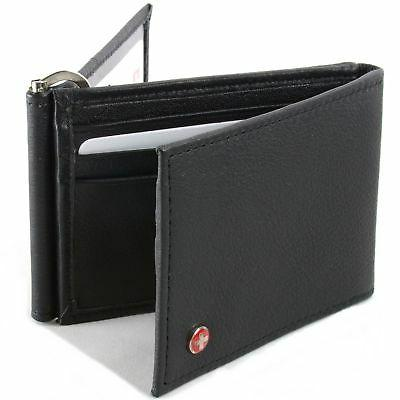 Mens Leather Wallet Money Trifold Bifold Slots IDs