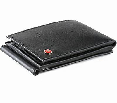 Mens Money Clip Trifold 11 Card Slots