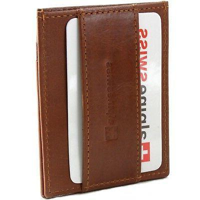 Alpine Mens Front Pocket Wallet Case Clip