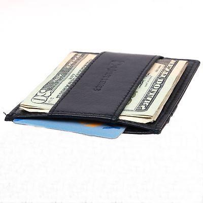 Alpine Swiss Front Pocket Wallet Case Cash Strap Money Clip