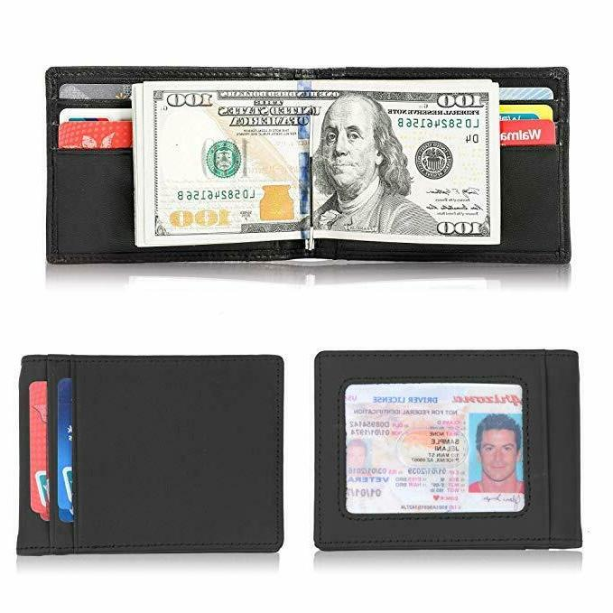 Mens Slim Clip Front Credit Holder