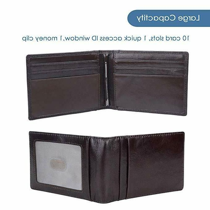Mens Slim Clip Wallet Bifold Front Pocket Holder