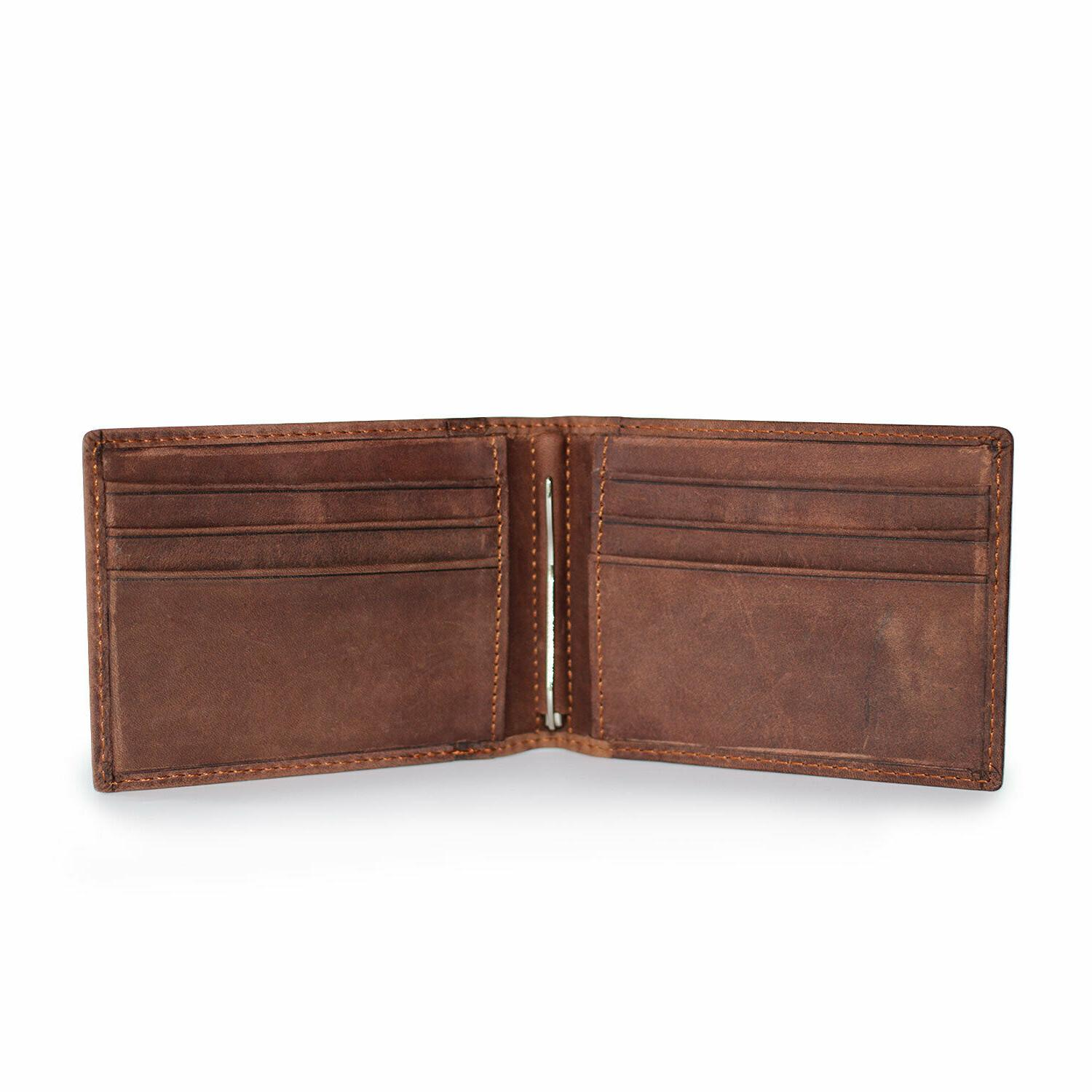 Mens Leather Clip Wallet Front Holder