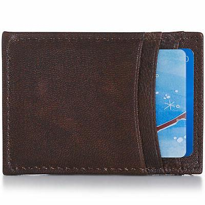 Alpine Mens Money Clip Thin Front Wallet Case
