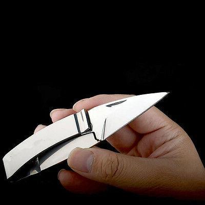 Mens Money Clip Folding Knife Stainless Cash Holder EDC GIFT