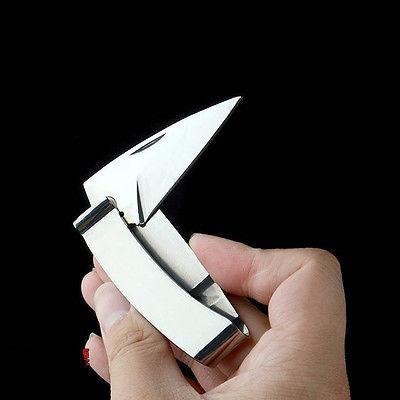 Mens Folding Knife Stainless Steel Cash Holder EDC TOOL GIFT