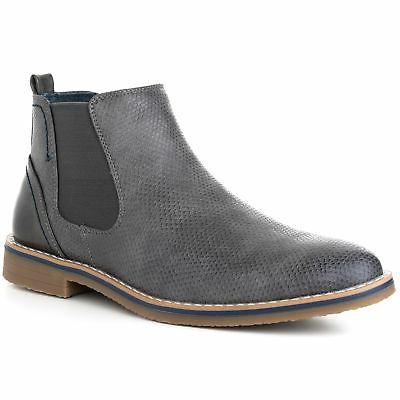 Alpine Swiss Mens Nash Chelsea Boots Snakeskin Ankle Boot Ge