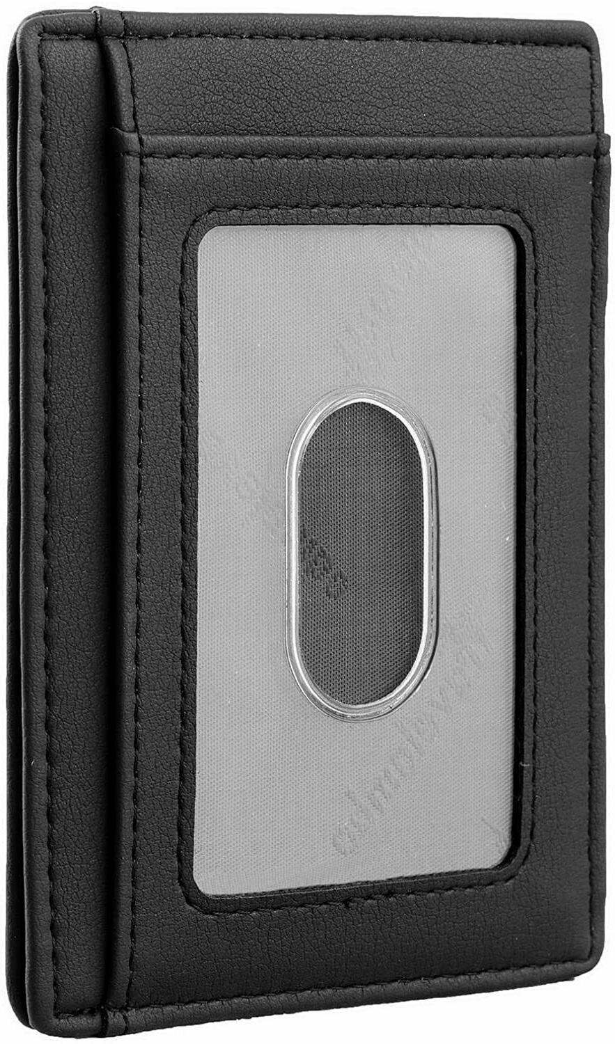 Mens Leather Wallet Money Credit Card Slots Holder