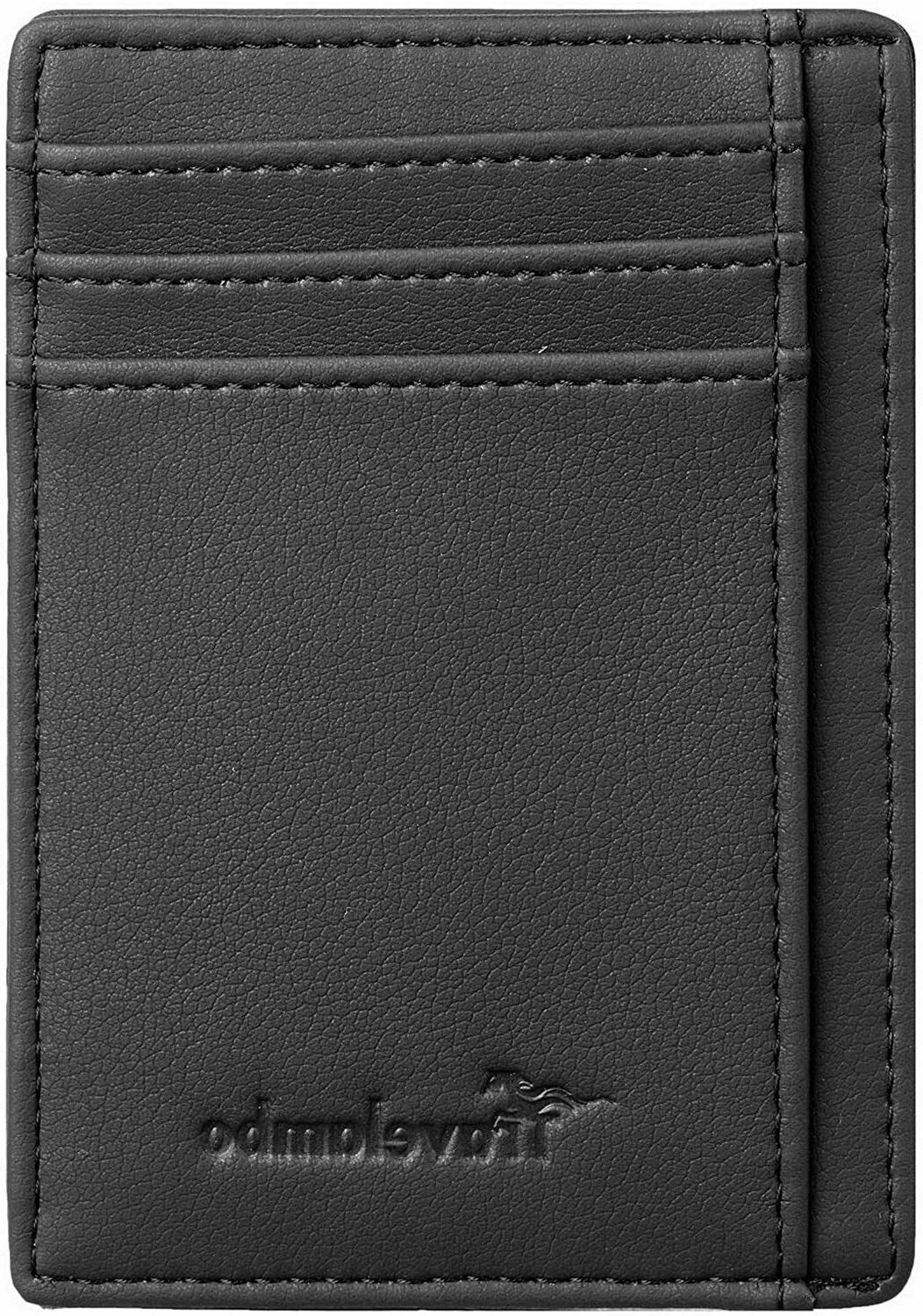 Mens black Leather Credit Holder