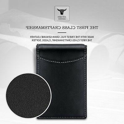 amelleon Mens RFID Blocking Leather Wallet Wallet Money Clip