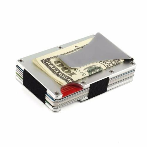 Mens RFID Blocking Money Carbon Wallet Credit Holder