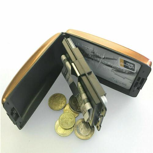 Aluminum Blocking Wallet Slim ID Credit Holder