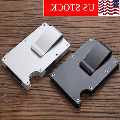 Mens RFID Blocking Slim Money- Clip Wallet Credit Card ID Ho