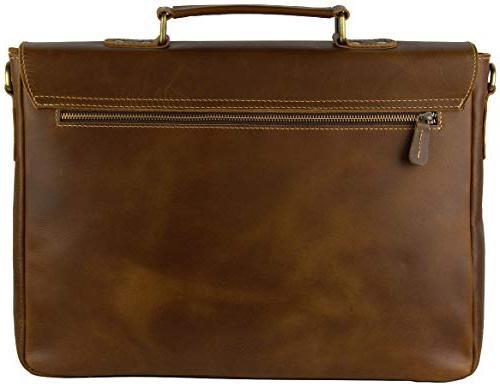 Viosi RFID Leather Messenger Bag | Inch Laptop Satchel Bag Money Clip
