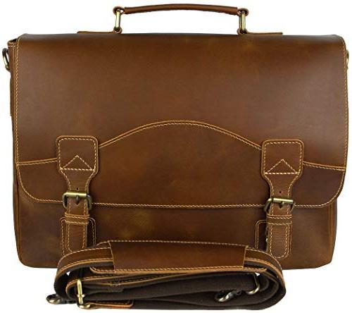 Messenger | 16 Inch Laptop Briefcase Shoulder Satchel Bag | Money Clip