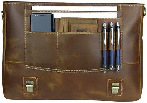 Viosi Leather Messenger Inch Laptop Satchel Bag Money