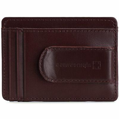 Alpine Mens Money Minimalist Wallet Case Window