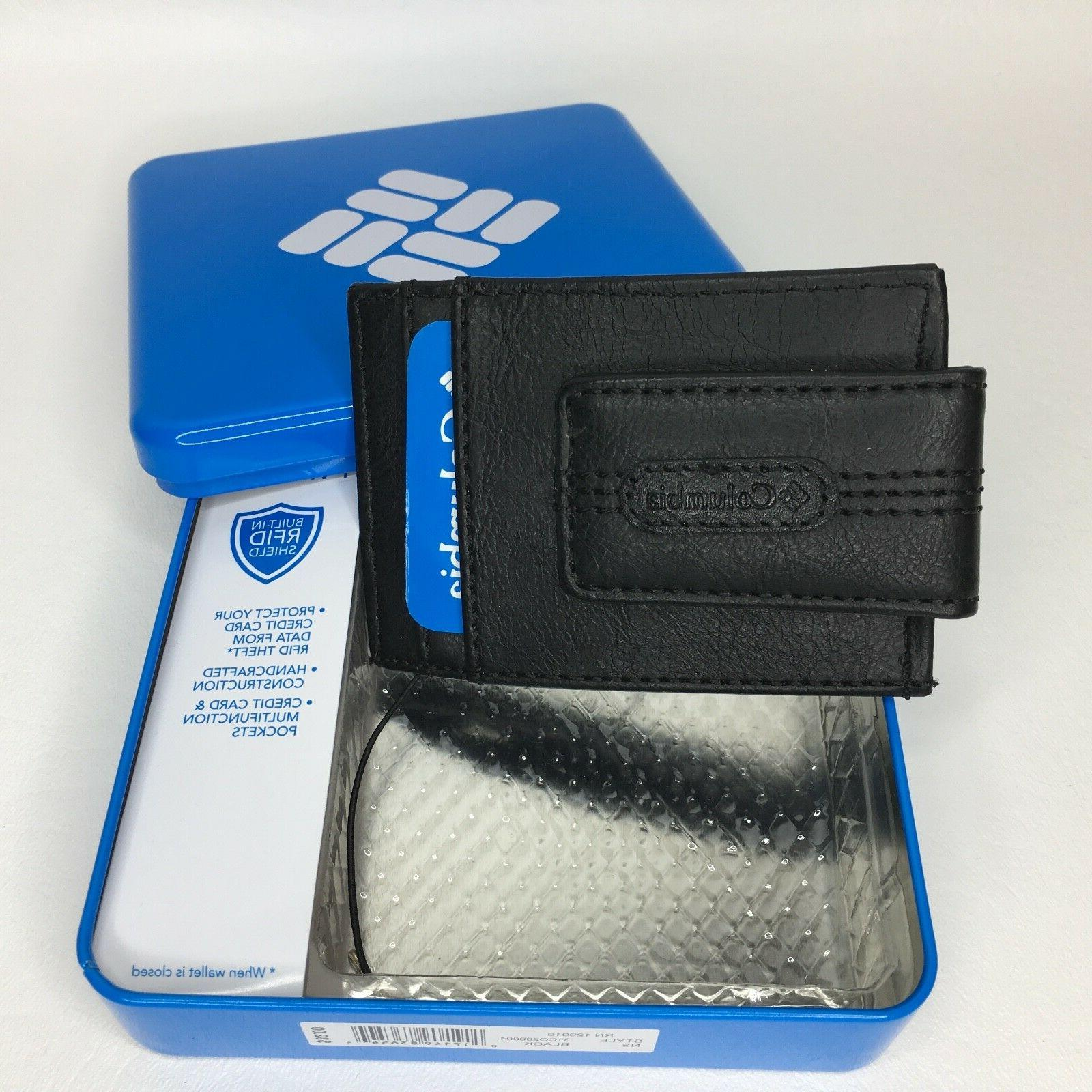 Columbia Leather Pocket Cards Black