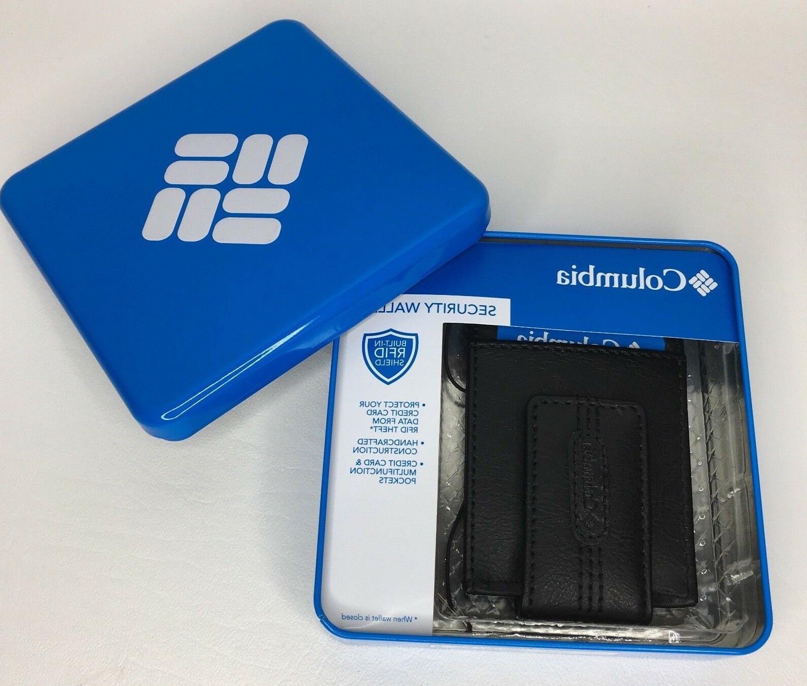 Columbia Leather RFID Pocket Cards Black