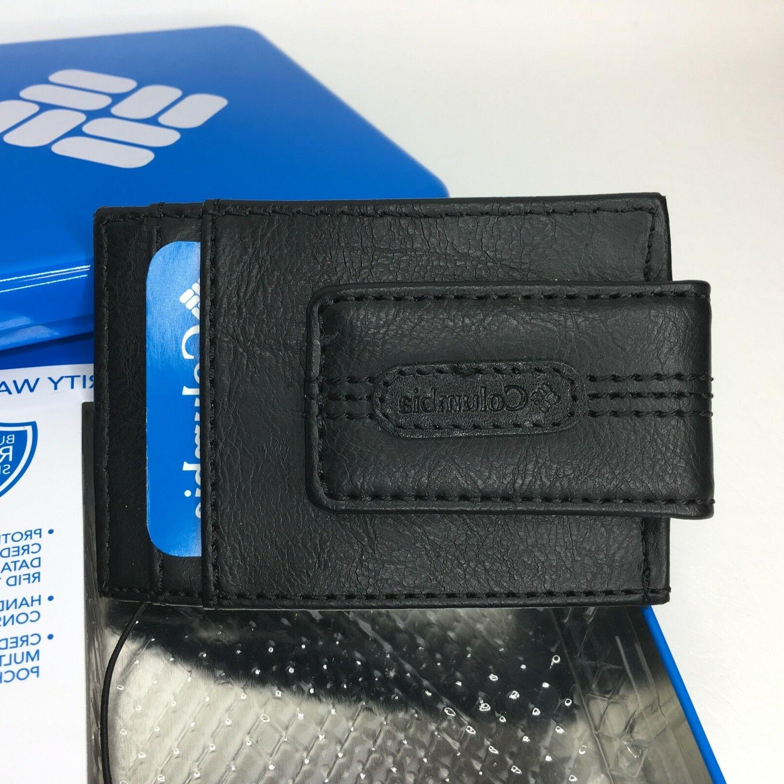 mens security wallet leather rfid blocking front