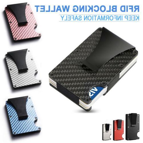 mens slim carbon fiber credit card holder