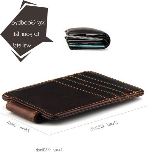 Mcdull Mens Slim Leather Credit Wallet