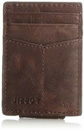 mens wallet brown ingram magnetic card case